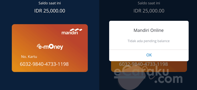 Cara Update Saldo E-Money atau E-Toll Mandiri Di HP Android dan ATM