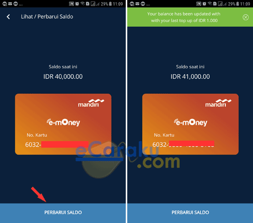 Cara Top Up E-Money Mandiri Lewat Mandiri Online