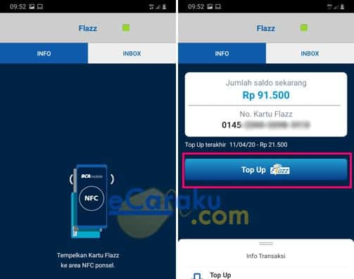 Cara Top Up Flazz BCA Lewat M Banking BCA Di HP Android